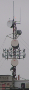 multiple antennas on a tower